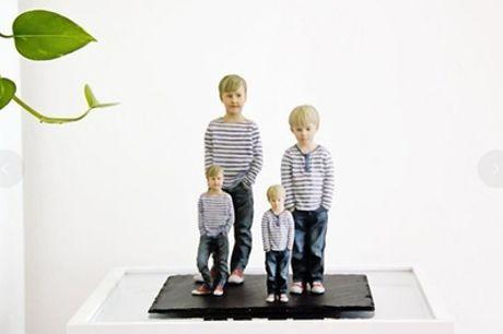 3D-Miniatur-Figur der eigenen Person im Maßstab 1:25(ca.7 cm) bei 3DyourBody (27% sparen*)