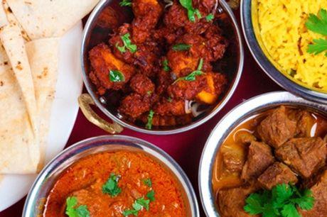 Entrée, plat, accompagnement et dessert pour 1, 2 ou 4 personnes au restaurant Indian House