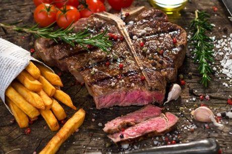 Côte de bœuf d'1kg sauce au choix, avec frites, salade et champagne pour 2 ou 4 pers. au restaurant Le Royal Lafayette