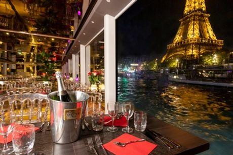 Dîner-croisière sur la Seine avec la formule au choix pour 2 personnes avec Péniche Ivoire