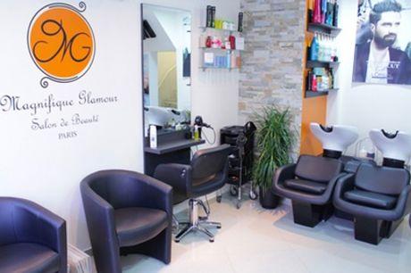 Shampoing, coupe, brushing sur toutes longueurs option couleur ou balayage au salon Magnifique Glamour