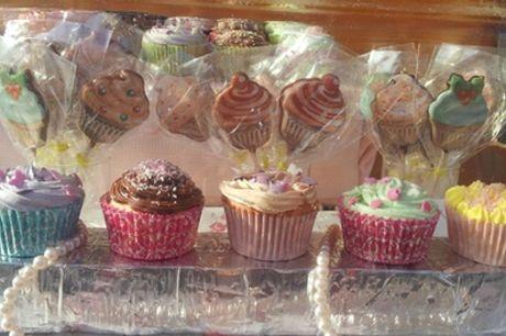 Assortiment de 12 ou 24 mini cupcakes à emporter chez Sandy's Cupcakes