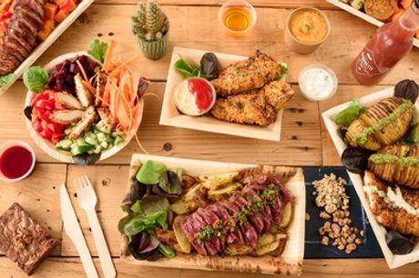 Barquette bœuf ou poulet avec sauce au choix et citronnade maison pour 1 ou 2 personnes au restaurant Cut