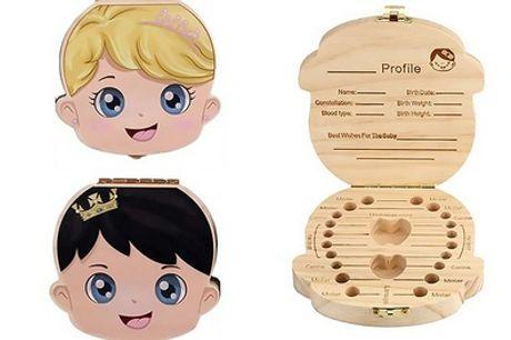 1 o 2 cajitas de madera para guardar dientes de leche