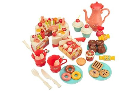 SOKA 82-Piece Birthday Tea Party Set with Musical Candle