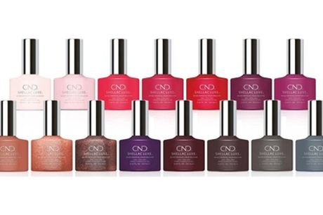 Six Assorted Bottles of CND Shellac Luxe Nail Polish