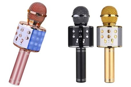 One, Two or Three Bluetooth Karaoke Microphones