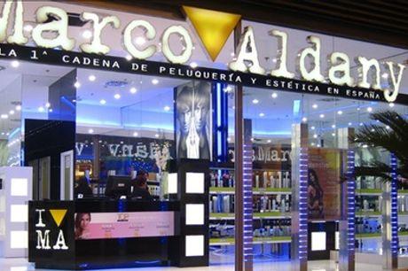 Sesión de peluquería para hombre o mujer con corte en Marco Aldany (hasta 74% de descuento)