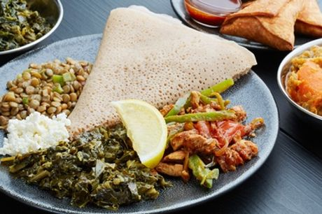 Two-Course East African Dinner for Two or Four at Shamrock Restaurant
