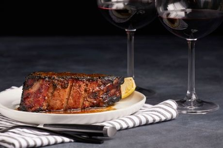 Steak Dinner with a Glass of Wine for Two at Ventana Grand Café at 4* Cumberland Hotel