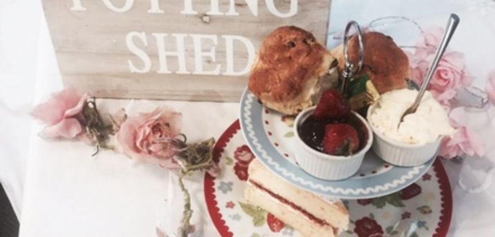 Cream Tea and Cake for Two or Four at The Potting Shed