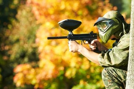 One-Day Paintball with a Light Lunch , 5, 10 or 20 People at Ground Control Paintball