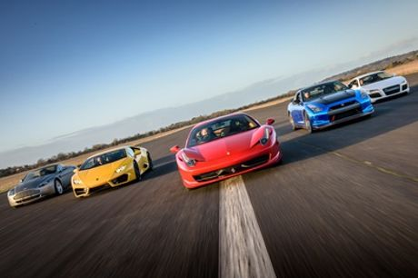 Three Miles in One, Two or Three Supercars with Car Chase Heroes