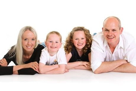 One-Hour Family Photoshoot With Eight Prints at Regent Studios