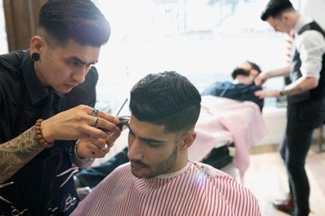 Damenhaarschnitt oder Herren-Barber-Komplettpaket + Augenbrauen zupfen im Barbershop Cinar (bis zu 60% sparen*)