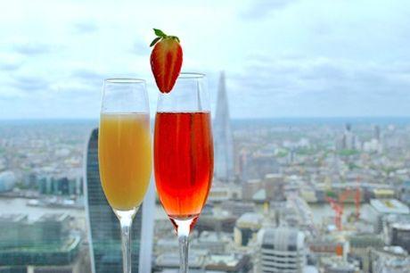 Two Champagne Cocktails at Vertigo 42