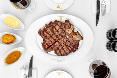 24oz Porterhouse Meal with Fries and Sauces to Share for Two at Marco Pierre White's London Steakhouse Co.