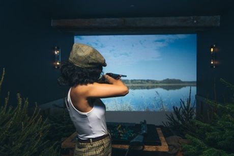 Session of Virtual Shooting with Cocktail and Optional Meal for Up to Six at Smoky Barrels