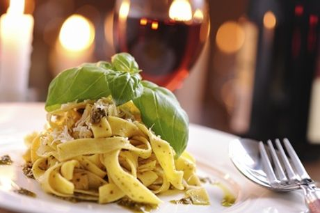 Choice of Main Course with a Glass of Wine for Two at Papavero