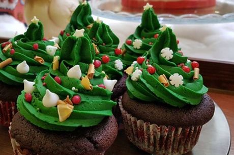 Six Seasonal or Standard Cupcakes, with Optional Hot Drink for Two at Strigicake