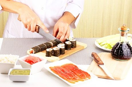 Sushi Making Taster Experience or Class for One or Two at The Smart School of Cookery, Three Locations