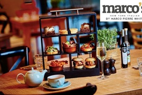 Italian Afternoon Tea with Optional Prosecco for Two at Marco's New York Italian, Two Locations (Up to 37% Off)