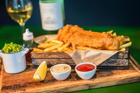 Medium or Large Fish with Unlimited Chips for Up to Four at The Whalebone Inn