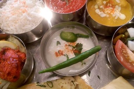 Thali Meal and Liqueur Coffee for Up to Six at Rayleigh Spicy