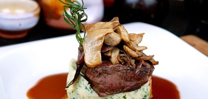 Sirloin Steak Meal with Wine for Two or Four at Cook's Bar & Kitchen