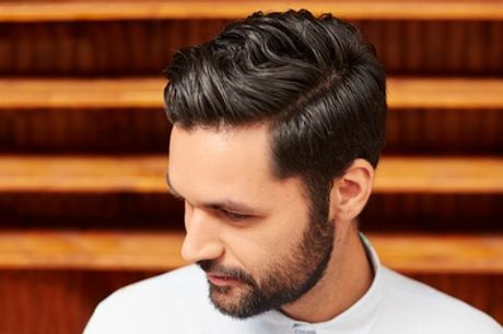 Men's Shampoo, Haircut and Optional Beard Shave with Ear Waxing or Eyebrow Threading at Fitzy's Hair and Beauty