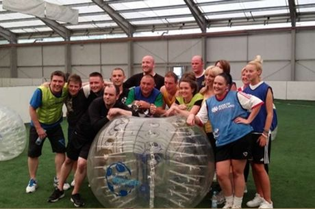 Bubble Football Experience for Up to 16 at Bubble Soccer Scotland, Five Locations