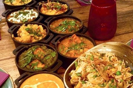 Indian Curry Feast with Rice and Naan for Up to Four at Usha's Indian Street Food