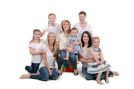 Family Photoshoot with Six Prints at Studio Rooms