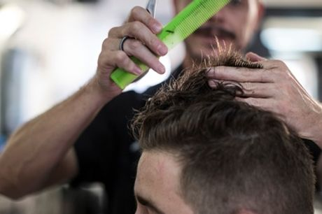 Up to Two Gents' Haircuts with Optional Finish and Colour at Marx Salon