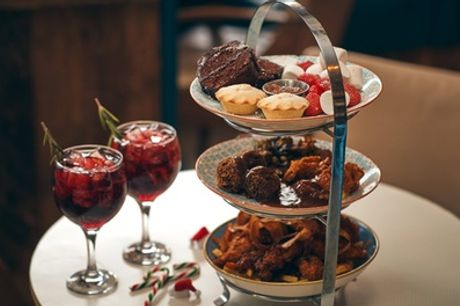 Dirty Santa Afternoon Tea with Glass of Gin for One, Two or Four at Yard and Coop Leeds