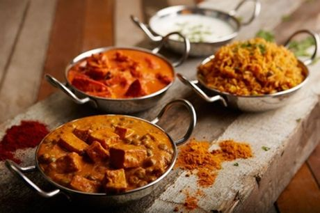 Three-Course Indian Takeaway Meal with Sides for Up to Four at The Grand Durbar Restaurant