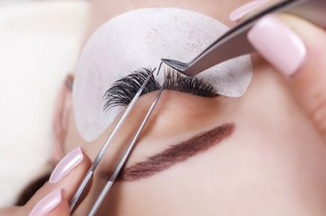 Full Set of Natural-Effect Eyelash Extensions with Eyebrow Shape at Boudoir Beauty