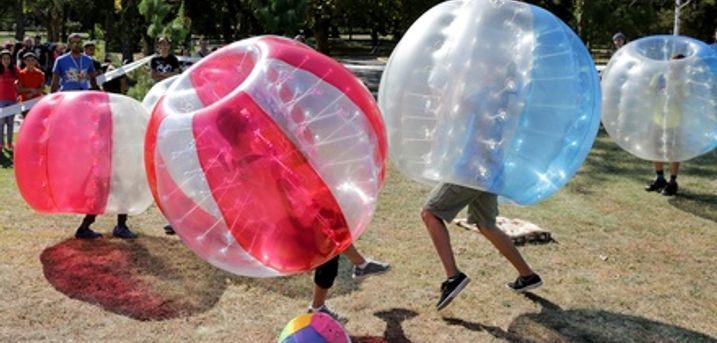 Bronze, Silver, or Gold Indoor Bubble Football Package for Up to 20 People at Activity For All