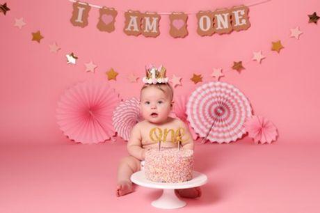 Cake Smash or Birthday Photoshoot with Prints at Xposure Studios