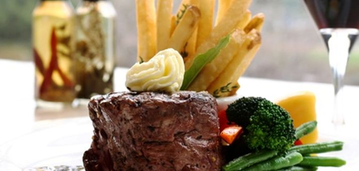 Starter and Steak Meal with a Glass of Wine for Two or Four at Square Bar and Grill