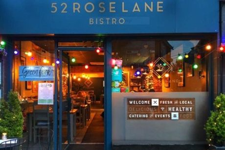 Toward Food or Drinks for Two or Four at 52 Rose Lane Bistro