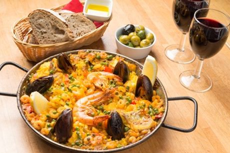 Tapas or Paella with Drinks for Two or Four at Jamon Jamon, Four Locations