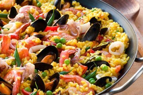 Menu spagnolo con paella e sangria o buono per un Jamón Serrano da Principe Tapas Gourmet (sconto fino a 92%)