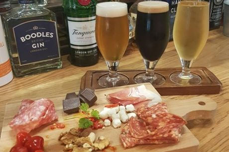 Craft Beer Tasting with Sharing Platter to Share Between Pairs for Two or Four at 4Degrees Bar and Restaurant
