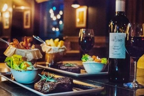 8oz Rump Steak, Rub and Side with Wine for Up to Four at Ibis Styles Manchester Portland Hotel