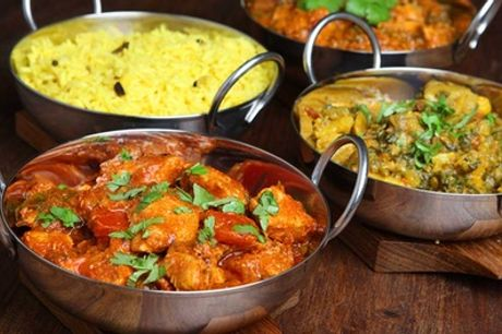 Two-Course Indian Meal with Rice or Naan for Up to Six at Raj Douth