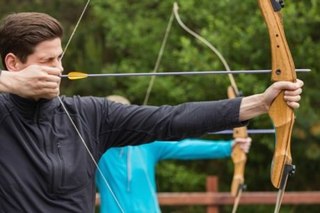 Half-Day Falconry, Archery and Shooting Experience for One or Two at Birds of Prey Centre