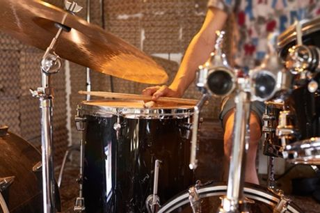Three 45-Minute Private Drumming Lessons at Rhythm Room