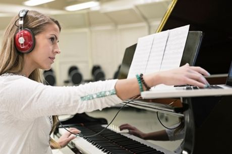 Three Private 45-Minute Piano Lessons at Rhythm Room (74% Off)