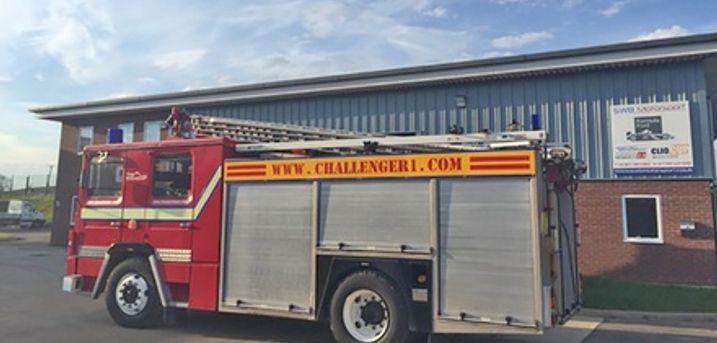 Dennis V8 Fire Engine Driving or Passenger Ride 1950's Classic Fire Engine Passenger ride at Challenger